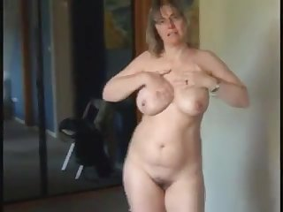 Hot milf with natural broad in the beam Bristols as she got so horny and masturbate infront of her cam