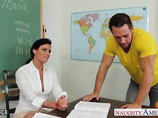 Chesty teacher Phoenix Marie take bushwa in classroom
