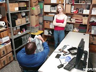 Shoplifting Russian inclusive Lana Sharapova gets facial after hardcore pussy pounding