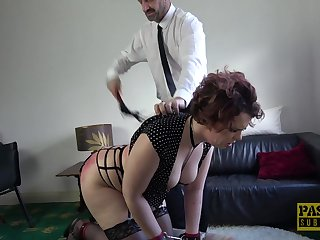 Chubby submissive brunette Mesmer Rose fucked coupled with abused hardcore