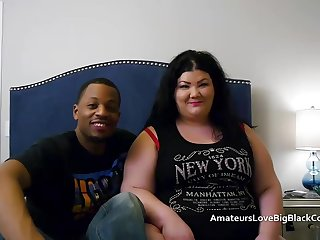 Broad in the beam BBW pounded away from two big black cocks