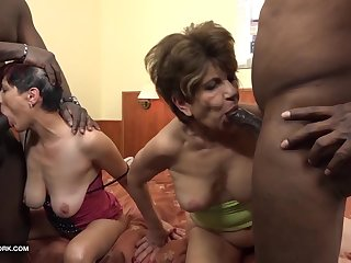 Granny group interracial intrigue b passion the grannies suck black cocks