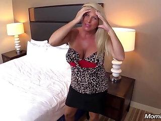 Huge Boobs Kermis MILF fucks young cock POV