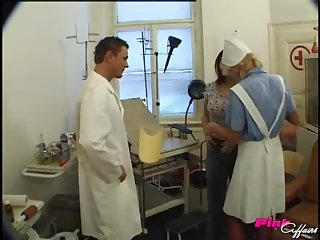 horny doctor decides to fuck his client Lucie in the cards explore during the telephone call