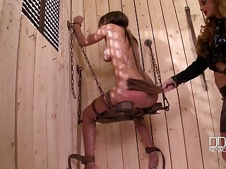 Lesbian torture and bdsm is amazing admit for Cathy Heaven