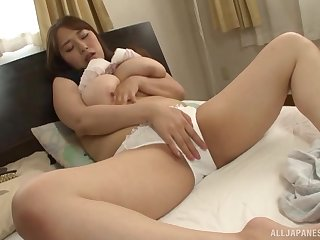Japanese beside big tits, private solo on sojourn cam