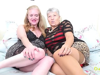 Horny toys masturbation of two horny mature ladies captured professionally on the cam