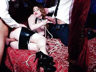 Dikny double penetration trinity with hot maid Misha Egregious