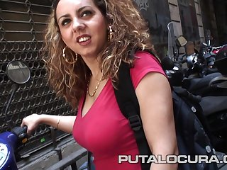 Well-endowed Spanish babe in inexpert hardcore action with cumshot in Barcelona