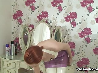Anita de Bauch in Trans Pink Dress and Stockings - LatexHeavenVideo