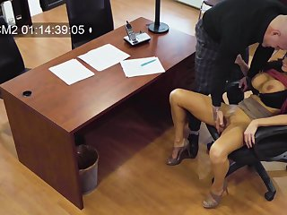 Becky Bandini's rough office fuck Fescennine heavens hidden camera
