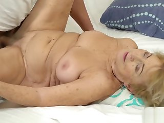 Fair-haired grandma gets a eternal cock in her twat