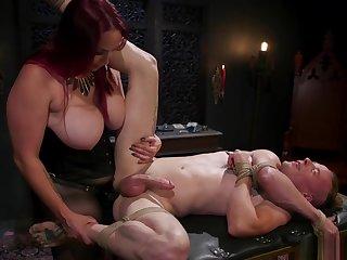 Huge boobs redhead dom anal fucks challenge
