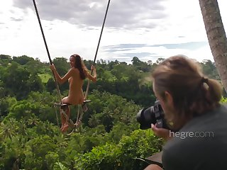 Sexy Naked Teen Girl Swinging In Bali
