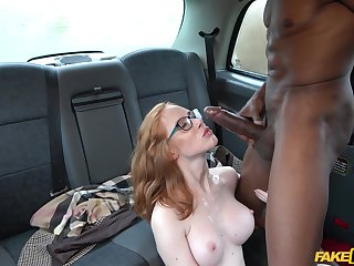 Interracial fucking give the back be beneficial to the taxi with Lenina Crowne