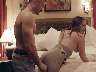 Home sex in amateur bedroom scenes for a hot MILF on fire