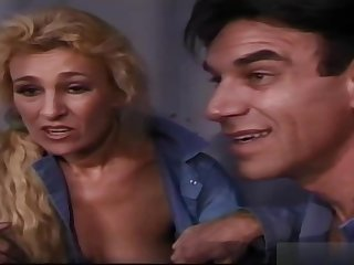 Mature blonde woman, Mia is having sex while in jail, with serendipitous guys with huge dicks