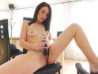 Hot ass amateur wed Ashley plays with her boobs and soaked pussy