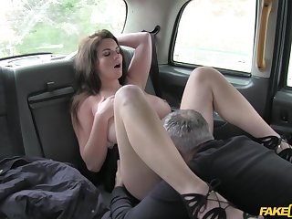 Anal finger banging added to rough sex for Tasha Holz added to her cabbie