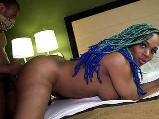 Black BBW boss is doggystyle fucked