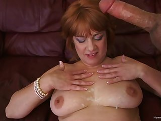 Dirty mature slut opens her legs with respect to be fucked by a large cock