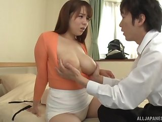 Japan hottie all round big natural tits, addictive sex all round a co-worker