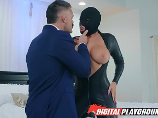 In Powerful Latex Throng Suit Found & Fucked With Romi Rain And Charles Dera