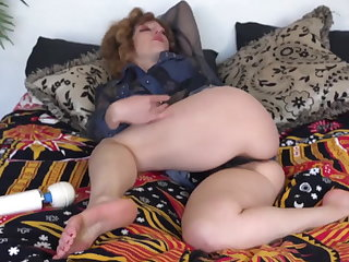 Piping hot hairy hitachi tease