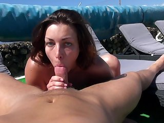 Alfresco orgasms and cum on that gorgeous clit