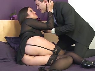 Sexy girl Alica Axxx downland stockings gets fucked in the butt