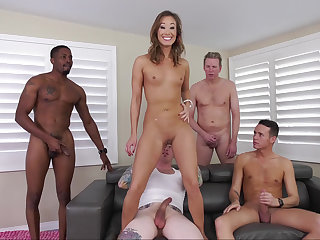 Asian's awesome gang-bang